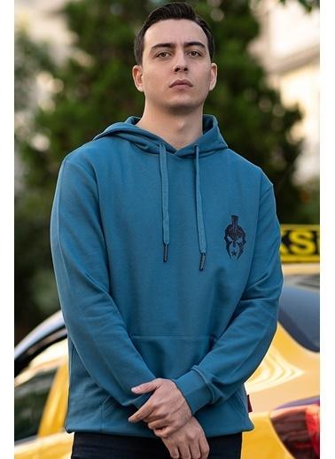 Bernotti 79 Mavi Kapüşonlu Erkek Sweatshirt Mavi
